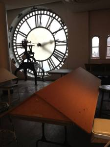 "Clayton's ""Entering the Curve"" workshop was held in the Peter Cooper Suite, as known as the Clock tower."